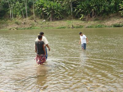 Sergio baptising in Pankawas