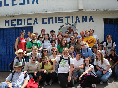 Group ready to climb to the cross on Sunday afternoon