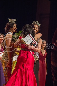 Freshman studying Kinesiology Yulisa Enriquez becomes Miss Belliza Latina 2017-18 at Forum Hall on April 22, 2017. (Kelly Pham | The Collegian)