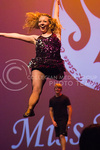 Ashton Thomas, representative for Alpha Xi Delta wows the crowd with her dance moves at Miss K-State at McCain Auditorium on April 11th, 2017. (Kelly Pham   The Collegian)