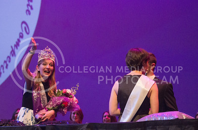 Bridgette Beasley is crowned Miss K-State at McCain Auditorium on April 11th, 2017. (Kelly Pham | The Collegian)