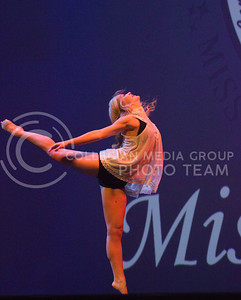 Representing Gamma Phi Beta at Miss K-State is Cooper Allison with her dance moves at McCain Auditorium on April 11th, 2017. (Kelly Pham | The Collegian)