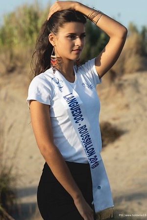 Shooting photos de Lola Brengues Miss Languedoc-Roussillon 2018
