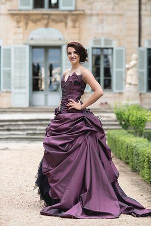 Shooting photo en robes de créatrice de Isabelle Dupéré