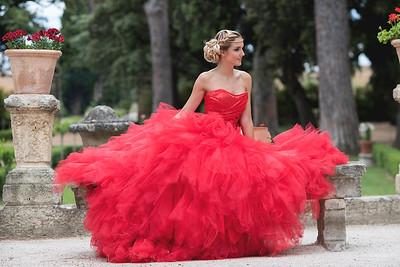 Les robes d'Isabelle Dupéré -  Les jardins du château par Philippe Holderied photographe mode montpellier