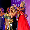 The new Miss Teen, Lexi Woloshchuk, 18, of Monson,MA, is crowned by Miss Teen 2017, Caitlyn Martin, 17, of Swansea, MA. SUN/ David H. Brow
