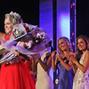 Giving her farewells is Miss Teen 2017, Caitlyn Martin, 17, of Swansea,Ma., in back are the finalists for the Miss Massachusetts USA contest. SUN/ David H. Brow