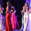 The top five finalists being picked for the Miss Massachusetts USA Pageant at the LMA, 2nd from left is the winner Allissa Latham,26, of Lowell. SUN/ David H. Brow
