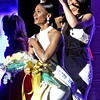 The new Miss Ma 2018, Allissa Latham,26, of Lowell, is being crowned by Miss Ma 2017, Julia Scaraparotti, of Peabody,Ma. SUN/ David H. Brow