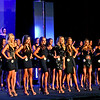 Contestants for the 2018 Miss Massachusetts USA contest line up at the LMA. SUN/ David H. Brow