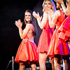 At left, Kayli Adams is awarded Miss Congeniality and she cheers on her fellow finalists for the Miss Massachusetts USA event hosted at the Lowell Memorial Auditorium. SUN/Caley McGuane