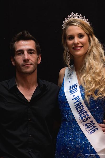 Avec Virginie Guillin tout juste élue Miss Midi-Pyrénées 2016
