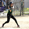 STAN HUDY - SHUDY@DIGITALFIRSTMEDIA.COM<br /> Miss Shen Thunder batter Keeley Kristel swings away against Classie Lassies Boom Sunday afternoon in the Slide into Summer tournament.