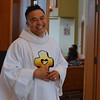 Our host with a smile, Fr. Thi!