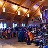 The pews in Our Lady of the Sioux chapel were filled for the Opening Mass