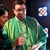 "Fr. Anthony let's us know it is ""thumbs up!"""