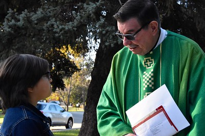 Fr. Anthony with a student