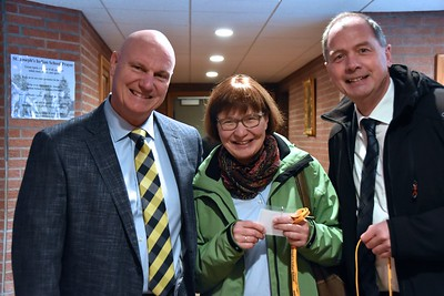 Our visitors from Germany –– Franz-Josef and Eva Hannaken –– with Mike Tyrell, president of St. Joseph's Indian School