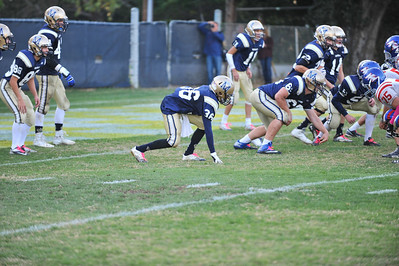 Mission College Prep Junior Varsity Football vs Immanuel.  October 11, 2013. Photo by Ian Billings.