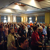 Morning worship at CMDE conference