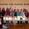 Bev Carter (inset) organized a group of women to make 360 diapers.  The diapers were a huge hit, as many of the babies have only old rags for diapers.