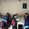 Breakfast at Hotel Giron in Chichicastenango on Sunday morning.