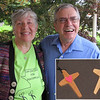 Jan with Jim Johnson.  Jim made the crosses that each of the team received at commissioning.