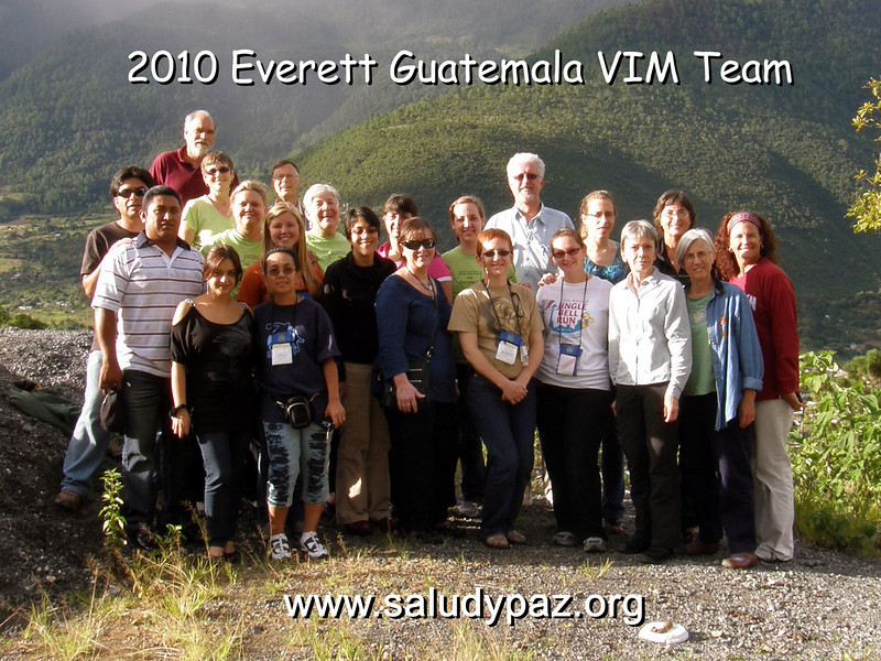 Our 2010 team included 19 members from Everett, including seven from Providence Regional Medical Center; also folks joined us from Melissa, TX; Corvallis, OR; New Smyrna Beach, FL; and Chicago, IL.