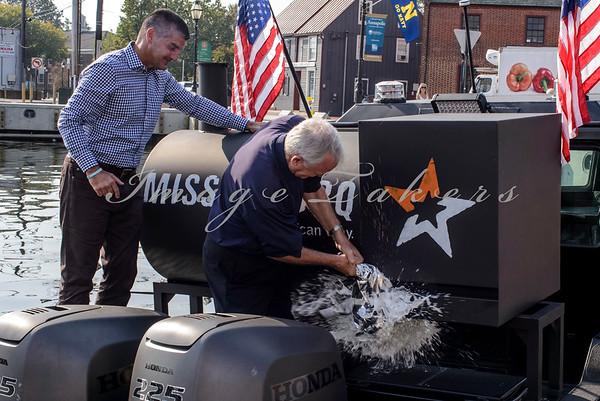 Mission BBQ Boat Christening