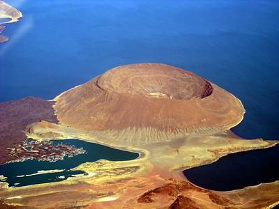 volcanic cone - lake turkana