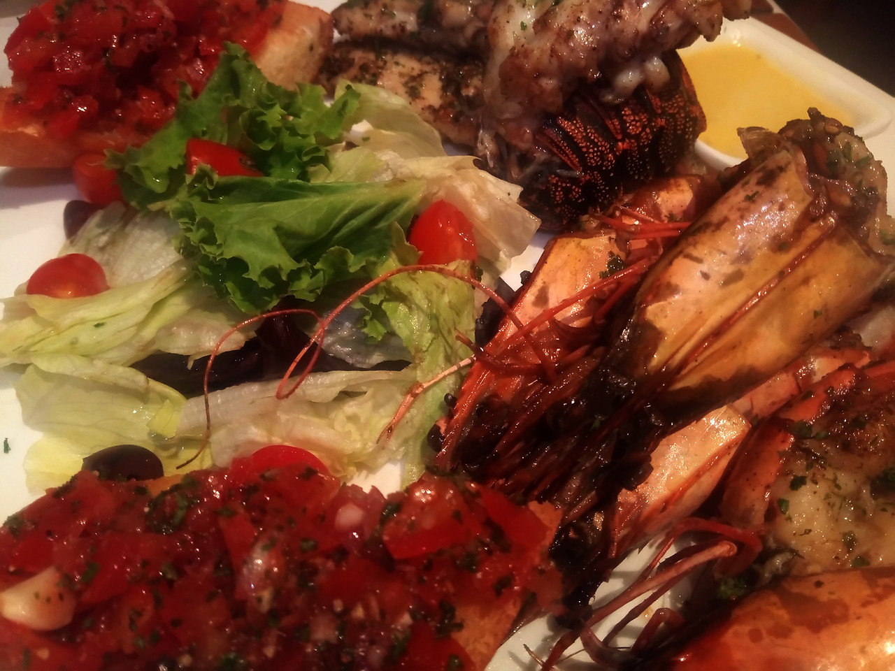 Sea food platter at Le Dupleix in Pondicherry, India