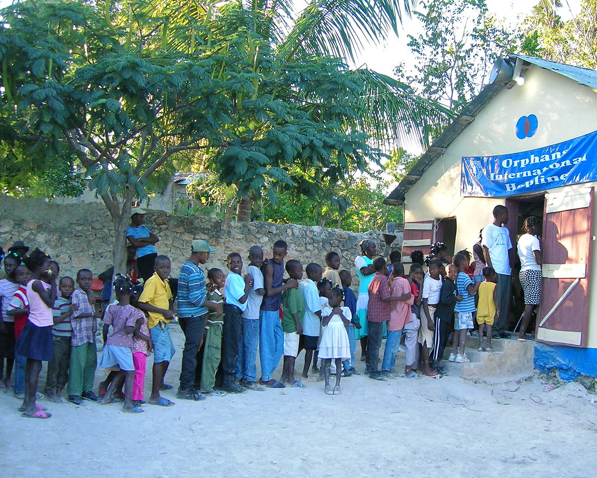 The line for the Medical clinic
