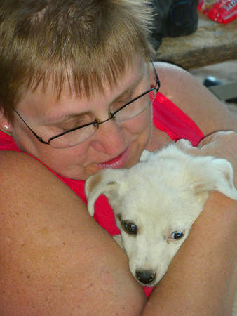 2010 Navajo Mission - Dianna and a Puppy