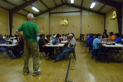 Navajo Mission - 2012 - Bingo Night - Also entertaining the kids!