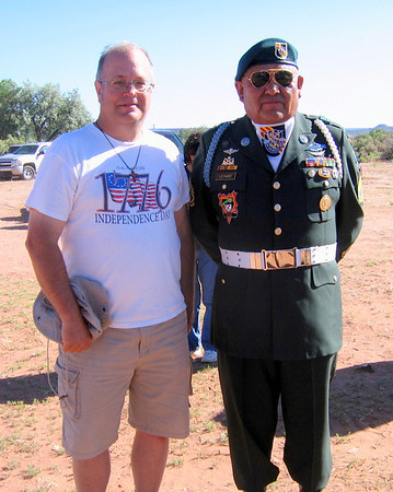 Navajo Mission - 2012 - Herman Leonard, Army Ranger, Green Beret - Distinguished Service Cross, Silver Star, Bronze Star with Valor, Purple Heart, etc, etc. He has the 2nd, 3rd, and 4th highest Army combat medals!!!
