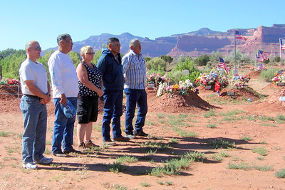 Navajo Mission - 2012 - Ceremony at the Lukachukai cemetery where the 5 service flags were unfurled, a 21 gun salute was given, and taps were played.