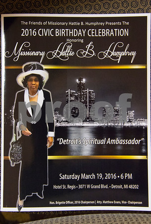 Missionary Hattie Humphry Birthday Celebration