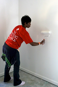 Painting one of the kids' rooms.