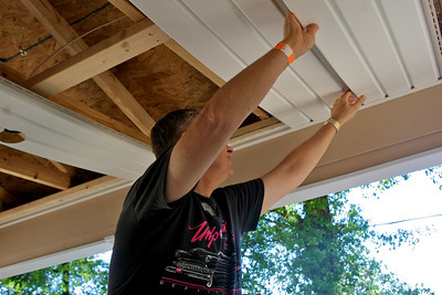 Installing the porch ceiling