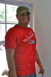 Happy Wells Fargo volunteer
