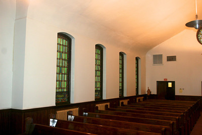 Side stained-glass windows
