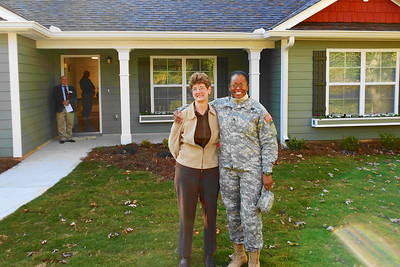 Homeowner with Jim Sutton's wife Debbie.