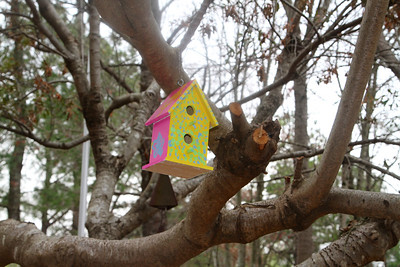 One of a kind birdhouse, a gift from our grandchildren! Lachance home by Donna Lachance 022