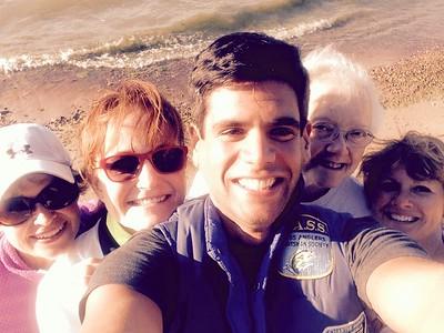 Selfie of our team on beach