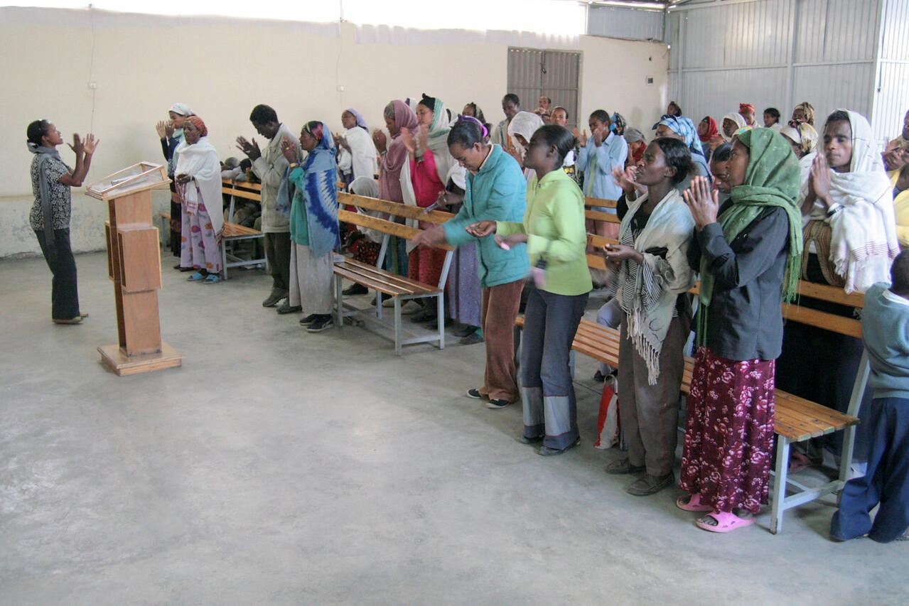 The Friday morning women's meeting at Mekanisa Addis Kidan Baptist Church.