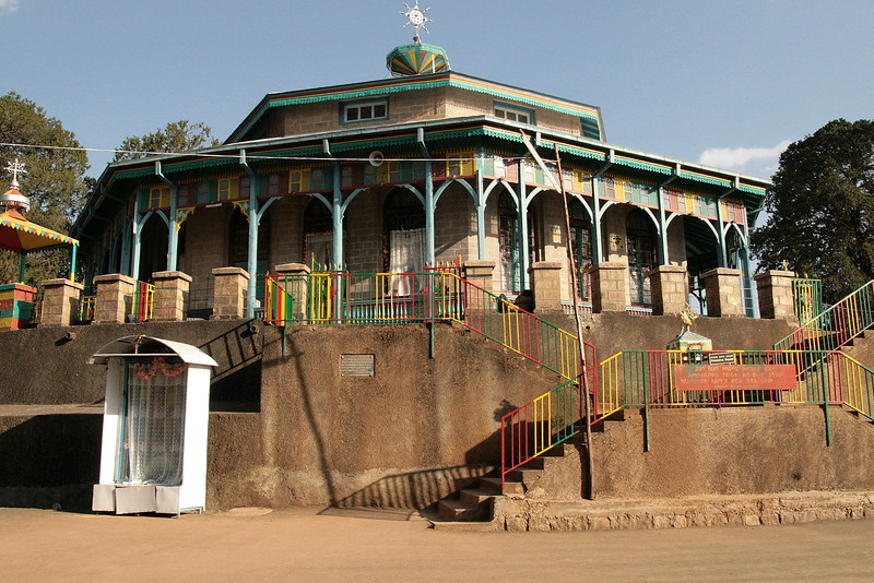 An orthodox church at the top of mount Entoto.