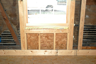 Front window inside view