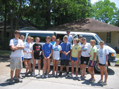 Asbury Methodist youth who painted the front bedroom of 111.  Thanks!