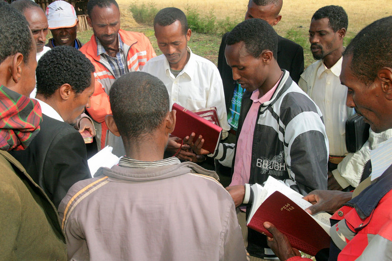 It was a joy to provide both villages with a few new Bibles which they could disperse as they saw fit. Here the pastors and leaders of the village and surrounding area decide how  best to make use of them. One pastor from Addis Ababa who I had the pleasure of talking with on our ride back to the city, told me that he came come to Christ as a result of someone giving him a Bible and subsequently reading it. We pray God will also see fit to use some of these Bibles to bring about the miracle of rebirth in Jesus Christ!