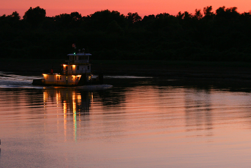 Sunset from Park Oh what beautiful photos we get when we mix that Southern water with a southern sunrise or sunset! Some things just scream southern when you first see them. A beautiful delta sunrise or sunset! Southern transportation comes in all forms. From tractors to mules, from trains to boats!